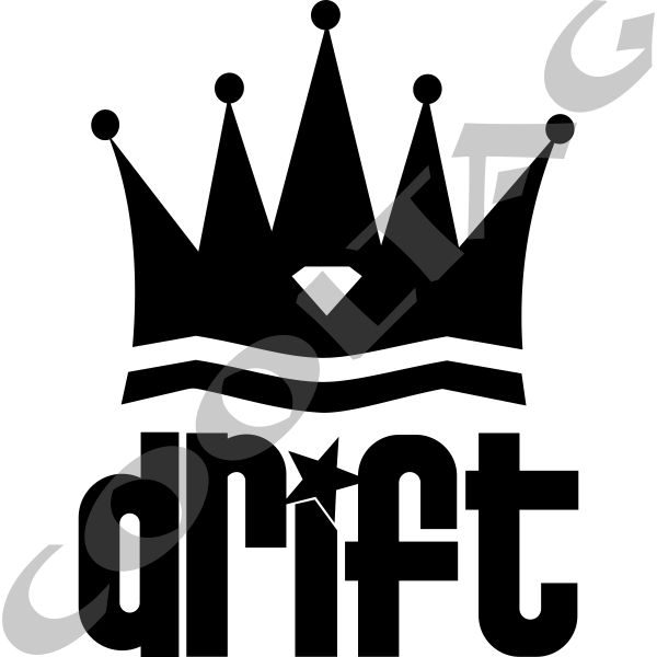 Drift king sticker decal