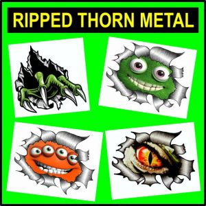 Ripped Torn Metal Design